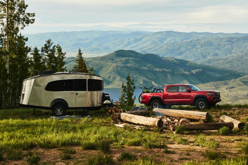 Toyota Tacoma pulling camper